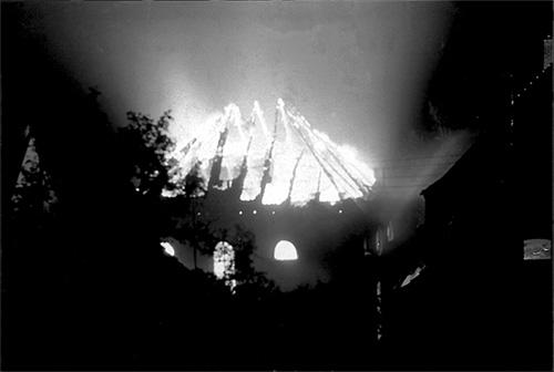 Brennende Synagoge Borghorst 1938