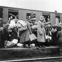 Deportation nach Riga © Stadtarchiv Bielefeld