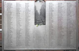 440 Namen von Menschen, die von der ehemaligen Provinzialheilanstalt in Tötungsanstalten deportiert wurden. ©K. Adam 2018