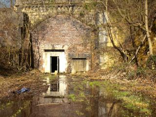 Der Zugang zum Alten Tunnel in Lengerich 2020