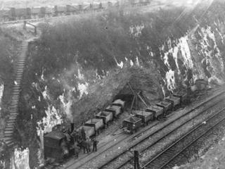 Bau des neuen Tunnels 1925 bis 1927